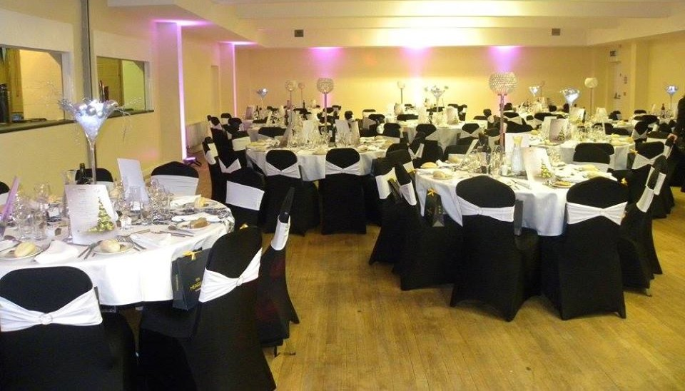 The Function Room can accommodate a small stage and band with up to 200 people seated at round tables or trestle tables.