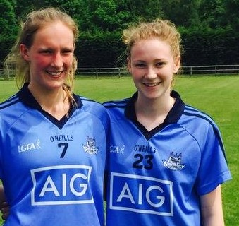 Maria & Ella Minor Dublin Ladies Footballers