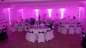 Clanna Gael Fontenoy Function Room white and black theme