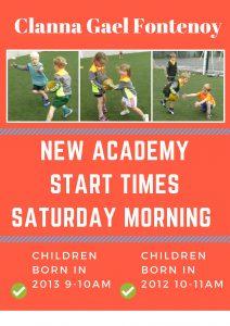 Academy start times