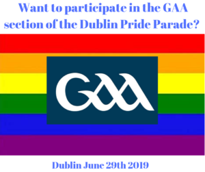 Want to participate in the GAA section of the Dublin Pride Parade?
